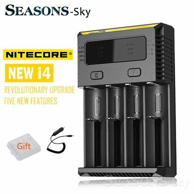 Nitecore NEW I4  Charger Universal Smart Battery Charger car For 18650 26650