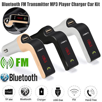 Bluetooth Handsfree Car Kit FM Transmitter MP3 Player Radio USB Charger & AUX SD