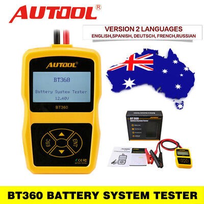 Autool BT360 Charging Battery Tester System DiagnosticTool For 12V Vehicle AU