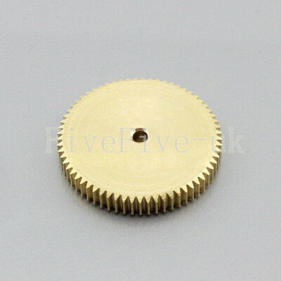 0.5M65T 3-12mm Bore Hole 65 Teeth Width 5mm Module 0.5  Motor Metal Spur Gear