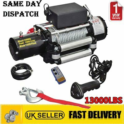 Heavy Duty 12V 13000lb Electric Winch Vehicle Off Road Wireless Remote Control