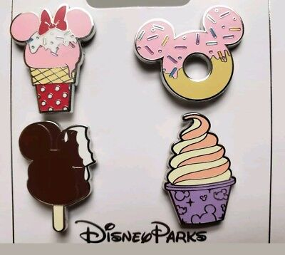 Disney park Ice Cream 4 Pin Booster Set New 2018 [ dsf ptd wdi d23 ] mystery