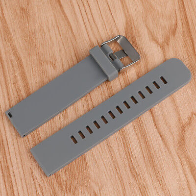 18mm 20mm 22mm Silicone Mens Watch Band Army Sport Diver Waterproof Wrist Strap