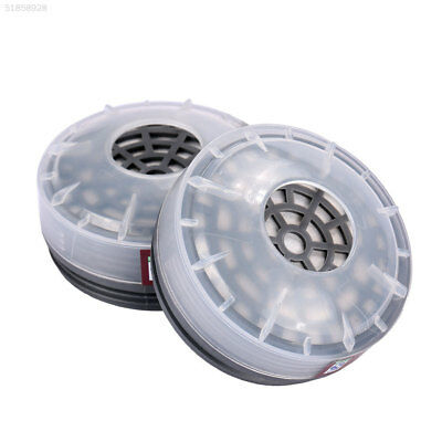 44FC 2pcs Filters Boxes Safety Painting Universal Mask Replacement Cartridges