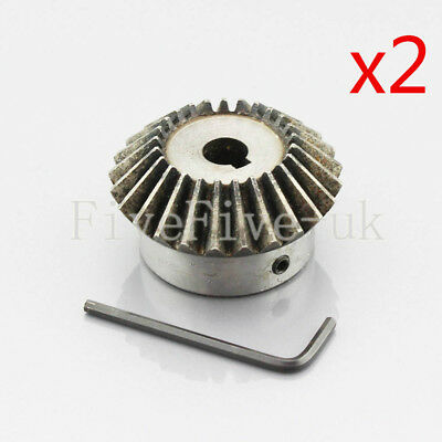 2pcs 2M 25T Metal Umbrella Tooth Bevel Gear Helical Motor Gear 25T 10-25mm Bore