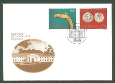 Lithuania E41 FDC 1997 2v Museum Art old Coins Under face