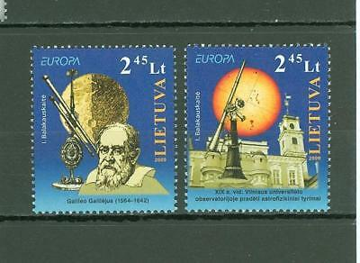 Lithuania F63 MNH 2009 2v Science Astronomy Space