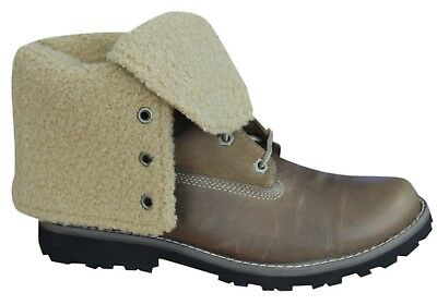 d0d7c90a322d1 Timberland Authentic 6 Inch Shearling Juniors Boots Roll Down 18901 WOMEN  BOYS