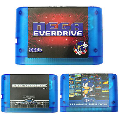 SEGA Genesis Mega Drive Game Cartridge EVERDRIVE 16bit MD For US EU JP Console