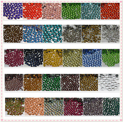 SS6-SS30 32 COLOR Crystal Iron On Hotfix Rhinestones Hot Fix Flatback stone #3