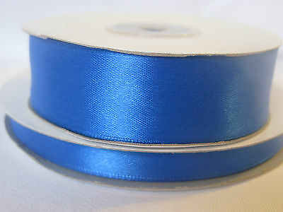 Royal blue double sided satin ribbon. 3mm 10mm 16mm 25mm crafts cards wedding