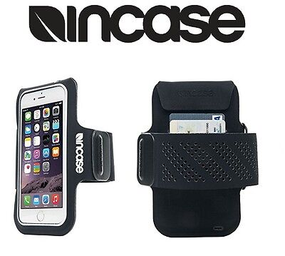 Incase Sports Active Armband Sleeve Card Pocket for iPhone 8 7 6s 6 BLK NEW OEM