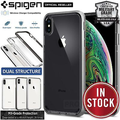 iPhone XS Max Case, Genuine SPIGEN Neo Hybrid Crystal Bumper Cover for Apple
