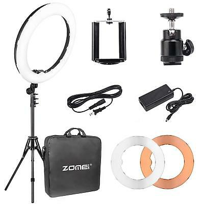 18 Inch Double Way ZOMEI Dimmable LED Ring Light With 50CM Tripod Stand MA