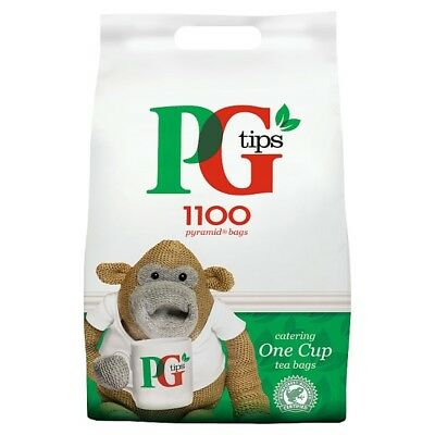 PG Tips 1100 One Cup Pyramid Tea Bags Catering Size Pack - Great British Cuppa