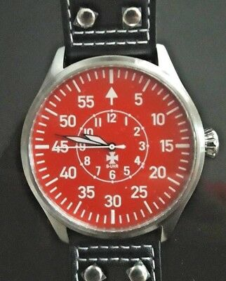 B-UHR BIG PILOT TYP B RED 50 mm,limited edition, brand new  + warranty card!