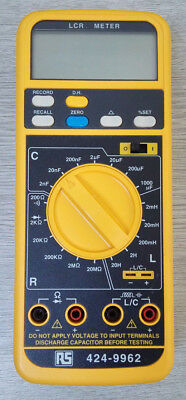 LCR Meter, Capacitance, Resistance, Inductance, Record/Hold/Recall