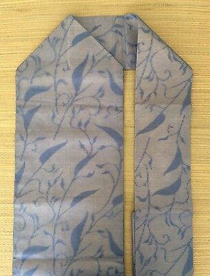 Japanese Nagoya obi, blue, for kimono, imported from Japan (AN2275)