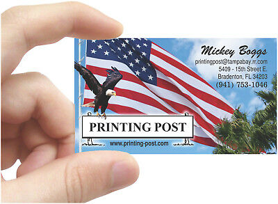 1000 - BUSINESS CARDS - RAISED PRINTING in FULL COLOR