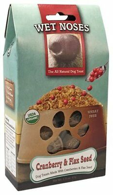 Wet Noses Cranberry and Flaxseed Dog Treats 1.5 Ounce Bag