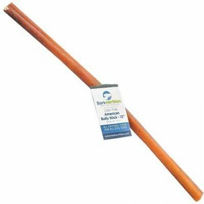 """Barkworthies Double Cut Odor-Free American Bully Stick 12"""""""