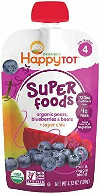 Happy Family happy tot Purees - Blueberry Pear & Beet - 4.22 oz - 4 pk