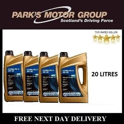 Quantum Longlife 3 5W-30 Fully Synthetic Engine Oil 4x 5 Litre Bottles 20 Litres