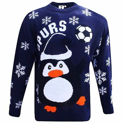 Official Tottenham Hotspur (Spurs) Knitted Christmas Jumper (Sizes S to 3XL)