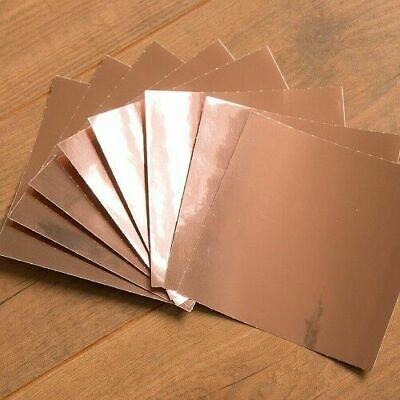 Self adhesive Tile Sticker Plain Glossy Rose Gold - 15cm x 15cm Pack of 24