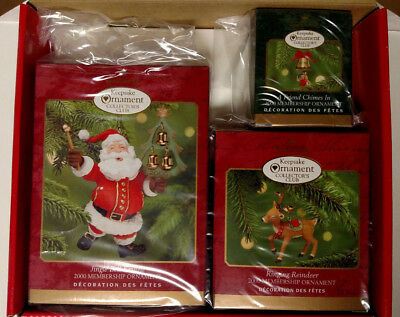 Collector's Club Set of 3 Hallmark Keepsake Ornament 2000 NIB
