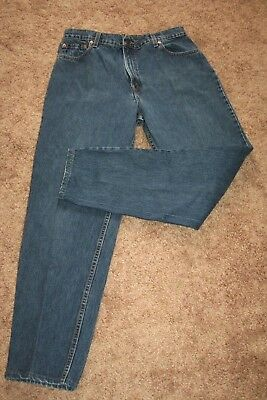 Vintage 90s Levis USA Made 551 Relaxed Tapered Mom Jeans High Waist 16 33x32