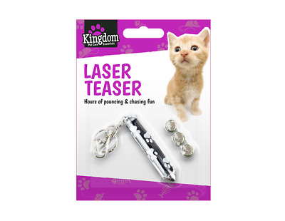 Laser Pen Cat Kitten Fun Exercise Play Toy Mouse Projecting Flash Teaser Pointer