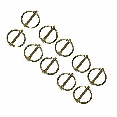 8mm Lynch Pins Clip Clamp (linchpin) Linkage Locking Pin 10pc Tractor Trailers