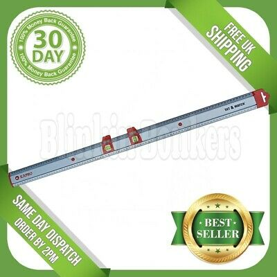 Two Sliding Spirit Levels With Large Long 90Cm Metal Aluminium Ruler Rule Metric