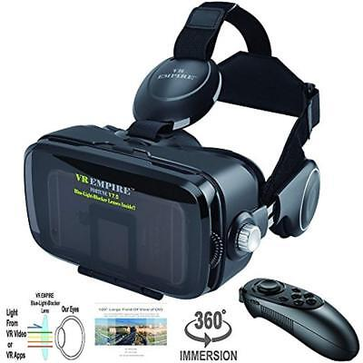 VR Virtual Reality Headsets Reaity With Remote Anti-Blue-Light Lenses 120 FOV 3D