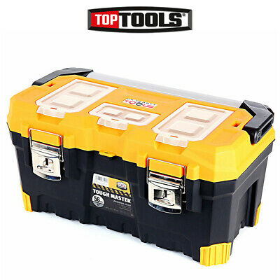 Tool Box Tough Master 22'' With Tray & Compartment Organiser Aluminium Handle