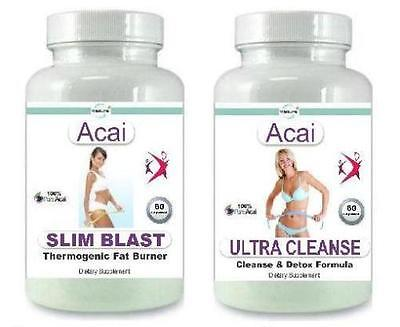 Acai Fat Burner Detox Cleanse Diet Pills Strong Weight Loss Slimming Tablets #1