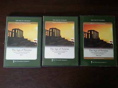 Great Courses: The Age of Pericles CD x12 + guidebook NM discs