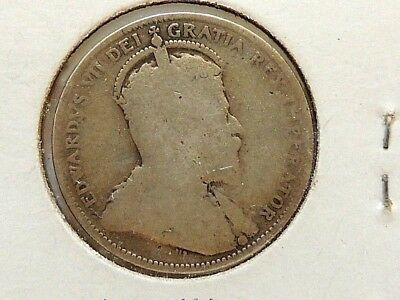 1908 Canadian Twenty Five (25) Cent Silver Coin