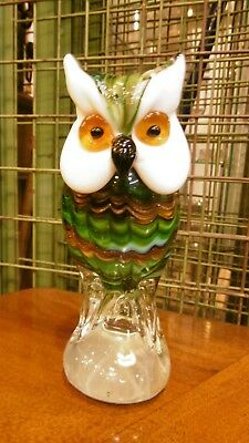 Lovely Murrano Glass figure sculpture of an owl