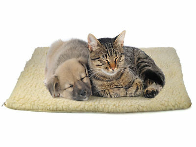 Cream Self Heating Pet Bed Thermal Cat Dog Puppy Insulate Warm Washable Fleece