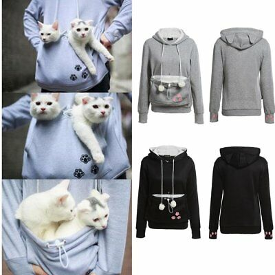 Unisex Kangaroo Pet Dog Cat Holder Carrier Coat Pouch Pocket Hoodie Hoody BJ