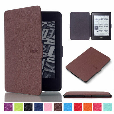 Classic Smart Wake Slim PU Leather Case Cover for Amazon Kindle Paperwhite 1 2 3