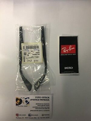 RAY BAN ASTE RICAMBIO RX 7047 COL. 5196 nero opaco REPLACEMENT ARMS NEW ORIGINAL