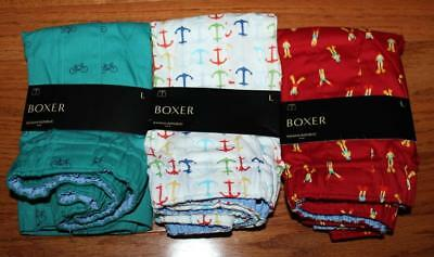 THREE (3) NEW NWT Mens Banana Republic Boxers Boxer Shorts Underwear LARGE *1G