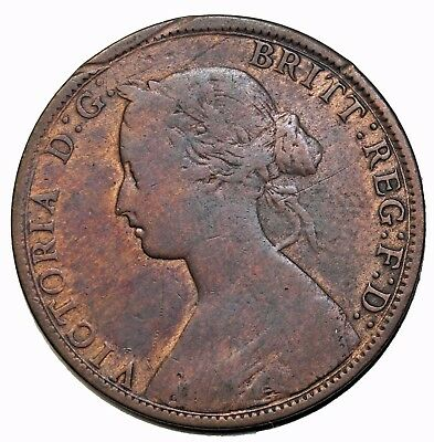 1861 Canada Nova Scotia One Cent Queen Victoria British
