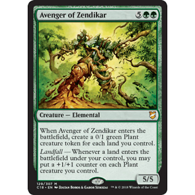 1x AVENGER OF ZENDIKAR - Elemental - Commander - MTG - NM - Magic the Gathering