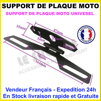 SUPPORT DE PLAQUE Immatriculation Moto Scooter Quad PlateLicence Placa soporte