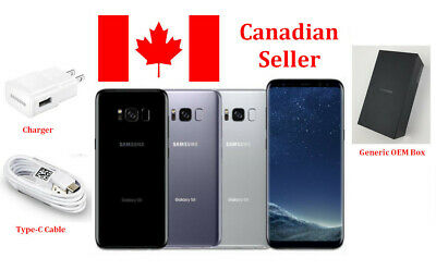 Samsung Galaxy S8 64GB Black/ Gray Canadian Model Unlocked G950W Smartphone y