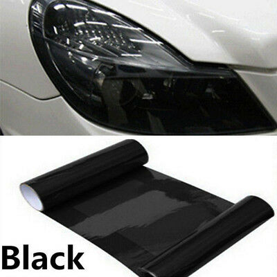 Hot 12 x 48 Tint Headlight Taillight Fog Light Vinyl Smoke Film Sheet Dark Black
